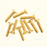10 Pack Creative Accents Brass Plated Wallplate Screw 9SB010