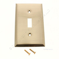 Creative Accents Brass Finish Steel Single Gang Toggle Switch Wallplate 9AB101