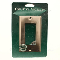 Creative Accents Antique Brass Finish Single Gang Decorative Wallplate 9AB117