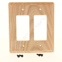 Creative Accents Unfinished Ash 2-Gang Decora GFCI Outlet Wallplate Cover 427U