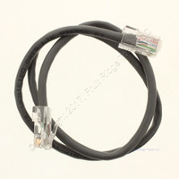 """Channel Plus GRAY 24""""L Telecom Cat-5 Patch Cord Enclosure Connector Cable H692"""
