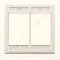 New Wiremold White Activate Double Gang High Profile Faceplate Cover AC-HDFP-WH
