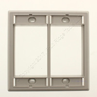 New Wiremold Gray Activate Double Gang High Profile Faceplate Cover AC-HDFP-GY