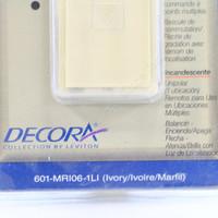 Leviton Ivory Mural Decora Light Dimmer Switch Control Multi-Way 600W Preset MRI06-1LI