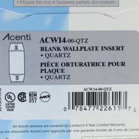 New Leviton Acenti Quartz 1-Gang Blank Wallplate Cover Insert Plastic ACW14-QTZ