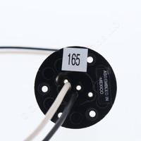 Leviton Black Phenolic Flanged Adapter Mogul Male E26 Medium Base 18ga Wire Leads 660W 250V #165