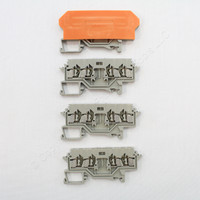 5 NEW Wago Din Rail Mount Terminal Blocks 4-Position 22mm 28-14AWG 10A for Pluggable Modules 280-628
