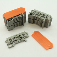 16 NEW Wago Din Rail Mount Terminal Blocks 4-Position 22mm 28-14AWG 10A for Pluggable Modules 280-628