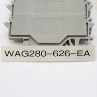 5 NEW Wago Din Rail Mount Terminal Blocks 4-Position 28-14AWG 24A Clamp 280-626