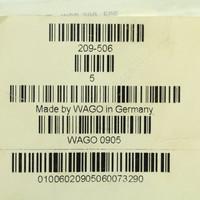 5 Wago White Colored Terminal Block Marker Cards 41-to-50 Horizontal WSB 209-506