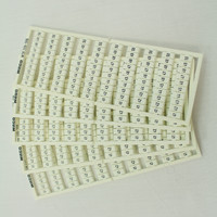 5 Wago White Colored Terminal Block Marker Cards 41-to-50 Horizontal WSB 209-506