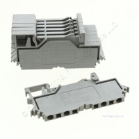 7 Wago Din Rail Mount Terminal Blocks 4-Position 28AWG 14AWG 2.55mm 10A Clamp 280-609