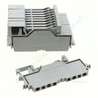 10 Wago Din Rail Mount Terminal Blocks 4-Position 28AWG 14AWG 2.55mm 10A Clamp 280-609