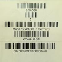 5 Wago White Colored Terminal Block Marker Cards 1-to-50 Horizontal WSB 209-566