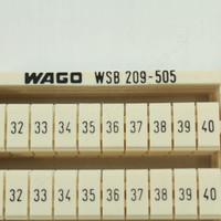 5 Wago White Colored Terminal Block Marker Cards 31-to-40 Horizontal WSB 209-505