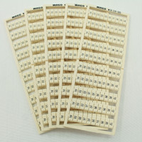 5 Wago White Colored Terminal Block Marker Cards 31-to-40 Horizontal WSB 209-505