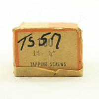 "100-Pack NEW #14 Tapping Screws 3/4"" Slotted Sheet Metal Zinc-Plated TS57 Boxed"