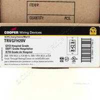 10 Cooper Ivory Tamper Resistant Hospital Grade Decorator GFCI Outlet Receptacle 5-20R 20A 125V Straight Blade TRVGFH20V