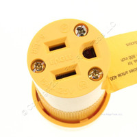 Eagle Nylon Yellow Straight Blade High Visibility Connector NEMA 5-15R 15A 125V 3487