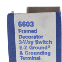 Eagle Brown Residential 3-Way Framed Decorator Rocker Switch 15A 120/277V 6603