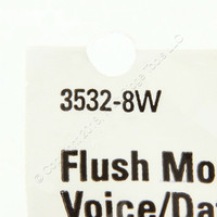 Eagle Single Gang Flush Mount Telephone Jack Wall Cover 4-Conductor 3532-8W