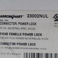 Arrow Hart Nylon Connector Powerlock 20A 125V 3-Pole 3-Wire 23002NUL