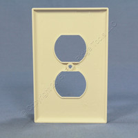 10 Cooper Light Almond Mid-Size 1-Gang Unbreakable Receptacle Nylon Wallplate Outlet Covers PJ8LA