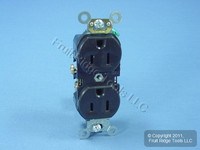 Leviton Brown COMMERCIAL Duplex Receptacle Outlet 15A 125V BR15 Bulk
