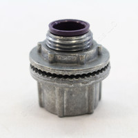 "New Killark Weatherproof 1/2"" Conduit Hub With Sealing Ring Die Cast Zinc w/o Ground WH-1"