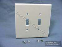Leviton White JUMBO 2-Gang Toggle Switch Cover Wallplate 88109