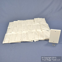 25 Leviton White Residential Blank Cover Wallplates Box Mounts 88014