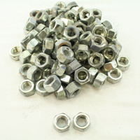 "New 100-Pack Metallics 3/4""-10 Hex Nuts Grade 2 Steel Zinc N168"