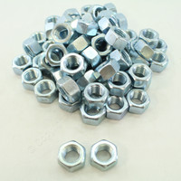 "New 70-Pack Metallics 3/4""-10 Hex Nuts Grade 2 Steel Zinc N168"