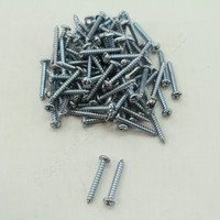 "New 96-Pack Metallics #6 x 1"" Pan Head Combo Tapping Screws Zinc Plated TS15"