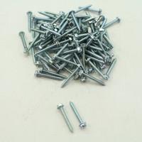 "New 100-Pack Metallics 8 x 1-1/4"" Drill Screws 1/4"" Hex/Slotted Head Zinc DS162"