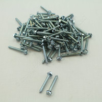 "New 108-Pack Metallics 8 x 1-1/4"" Drill Screws 1/4"" Hex/Slotted Head Zinc DS162"