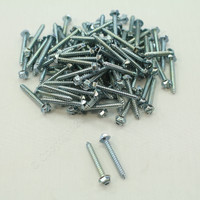 "New 106-Pack Metallics 8 x 1-1/4"" Drill Screws 1/4"" Hex/Slotted Head Zinc DS162"
