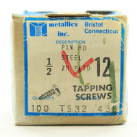 """94-Pack Metallics Tapping Screws #12 x 1/2"""" Pan Head Slotted/Phillip Combo TS32"""