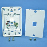Leviton White Phone Jack Mounting Plate Wall Mount Type 630A Telephone 40214-W