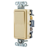 Hubbell Ivory Decorator Rocker Wall Light Switch 4-Way 15A Residential RSD415I