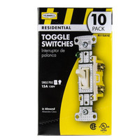 10 Hubbell Lt Almond Framed Toggle Light Switches Single Pole 15A RS115LA