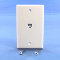 Leviton White Phone Jack Wallplate 6-Wire Telephone C2675-W