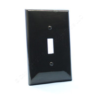 Leviton Black UNBREAKABLE Midway Switch Cover Wallplate Thermoplastic Nylon Switchplate PJ1-E