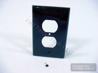 Leviton Black LARGE Unbreakable Receptacle Wallplate Nylon Outlet Cover PJ8-E