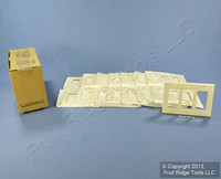 15 Leviton Almond 3G Decora Wallplate GFCI GFI Thermoset Plastic Covers 80411-A