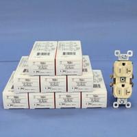 10 Pass & Seymour Ivory Straight Blade TAMPER RESISTANT Duplex Outlet Receptacles NEMA 5-20R 20A 125V TR20-I