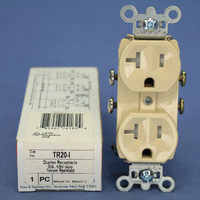 Pass & Seymour Ivory Straight Blade TAMPER RESISTANT Duplex Outlet Receptacle NEMA 5-20R 20A 125V TR20-I