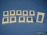 10 Leviton Almond 1-Gang Decora GFI GFCI Smooth Plastic Cover Wallplates 80401-A
