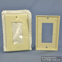 2 Leviton Almond Decora GFI GFCI Wallplates Covers 80401-A