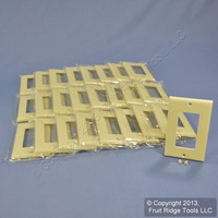 25 Leviton Ivory Decora GFI GFCI Cover Wallplates Faceplate 80401-I